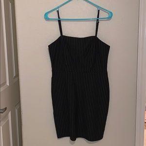 NEVER WORN forever 21 black pinstripe dress